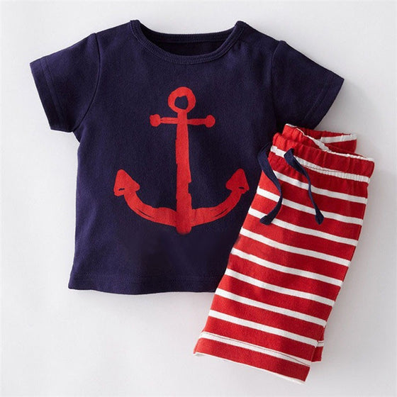 Edmund Sailor Set - Patter Panda Infant & Toddler Clothing