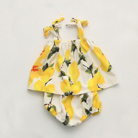 Lana Printed Lemons Set - Patter Panda Infant & Toddler Clothing