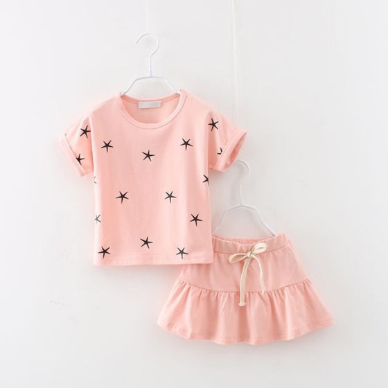 Selina Star Dress Set - Patter Panda Infant & Toddler Clothing
