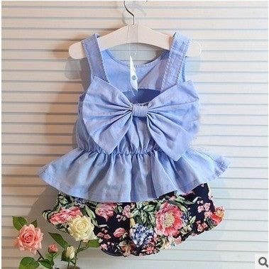 Giovanna Floral Bow Set - Edit background - Patter Panda Infant & Toddler Clothing