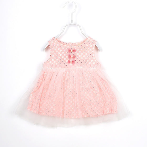 Evelyn Sleeveless Mini Bow Dress - Patter Panda Infant & Toddler Clothing