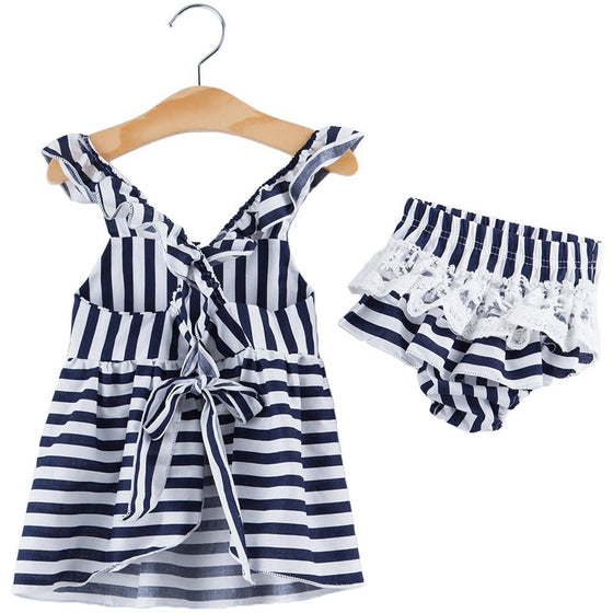 Jane Striped Baby Set - NEW - Patter Panda Infant & Toddler Clothing