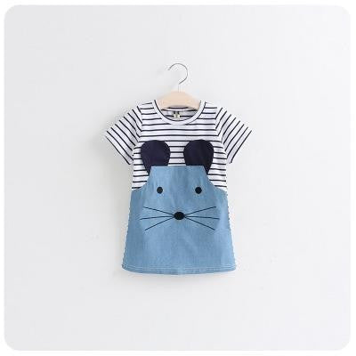 Jessie Mouse Striped Dress - Patter Panda Infant & Toddler Clothing