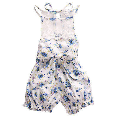 Chloe Summer Floral Romper - Patter Panda Infant & Toddler Clothing