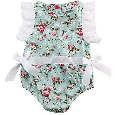 Prudence Floral Romper - Patter Panda Infant & Toddler Clothing