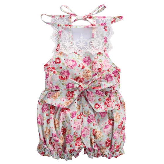 Beatrice Floral Printed Romper - Patter Panda Infant & Toddler Clothing