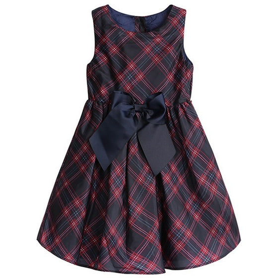 Reyna Plaid Bow Dress - Patter Panda Infant & Toddler Clothing