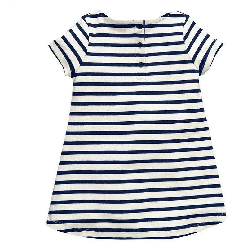 Gina Casual Striped Dress - Patter Panda Infant & Toddler Clothing