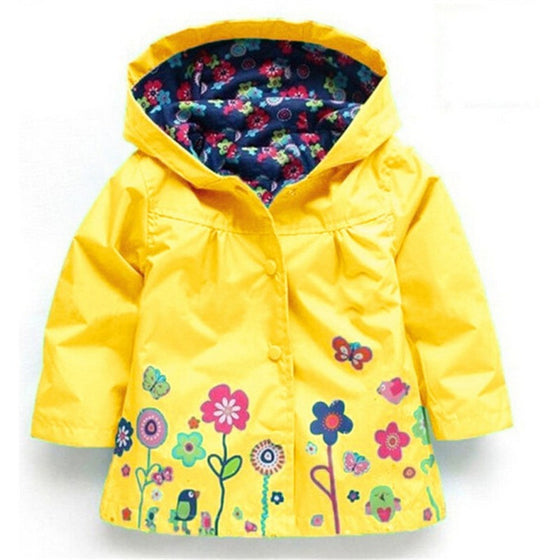 Olivia Floral Raincoat - Patter Panda Infant & Toddler Clothing
