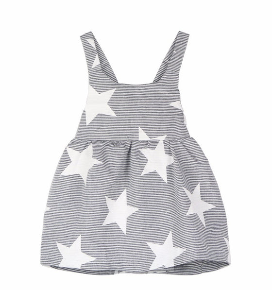 Matilda Stars and Stripes Dress - Patter Panda Infant & Toddler Clothing
