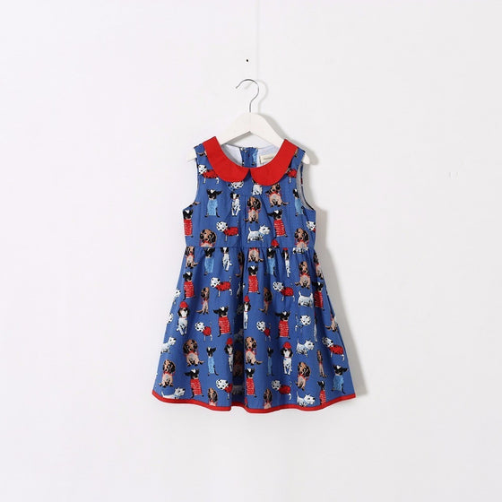 Rachel Puppy Printed Dress - Patter Panda Infant & Toddler Clothing