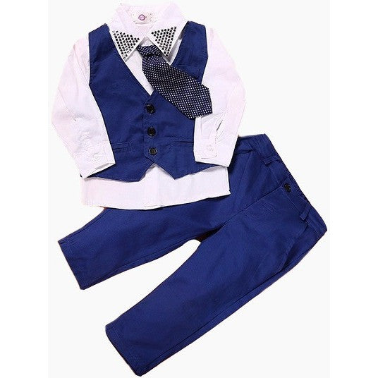 Robert Vest and Tie Set - Patter Panda Infant & Toddler Clothing