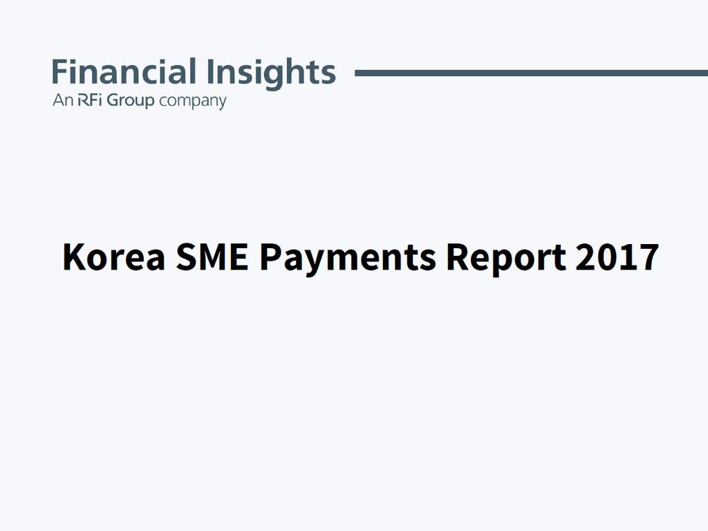 Korea SME Payments Report