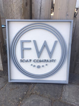 "Custom Cut Business Logo Sign | 16""x 16"""
