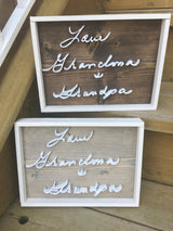 The Handwriting Sign | 11x14 | Stained Background
