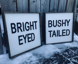Bright Eyed, Bushy Tailed    *Set of 2*