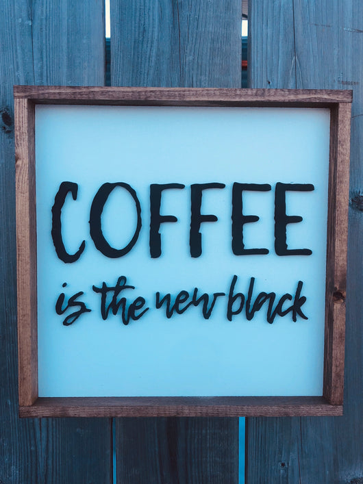 Coffee is the new black