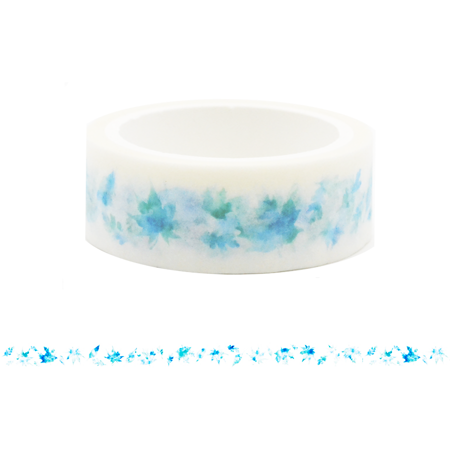 Blue Leaves Washi Tape