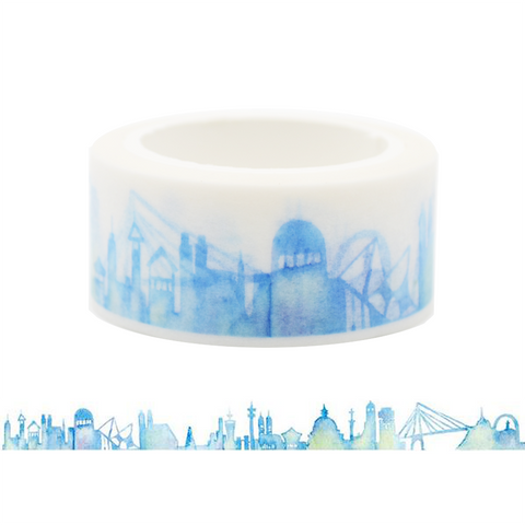 Blue Modern City Washi Tape