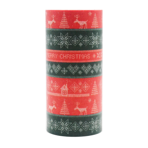 Merry Christmas Washi Tape - Christmas Pattern (Large)