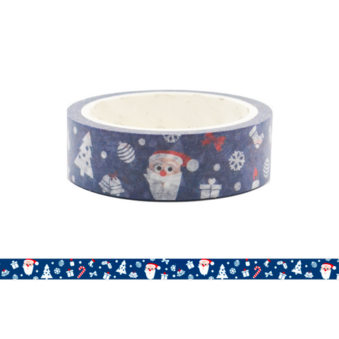 Merry Christmas Washi Tape - Santa Claus at Night