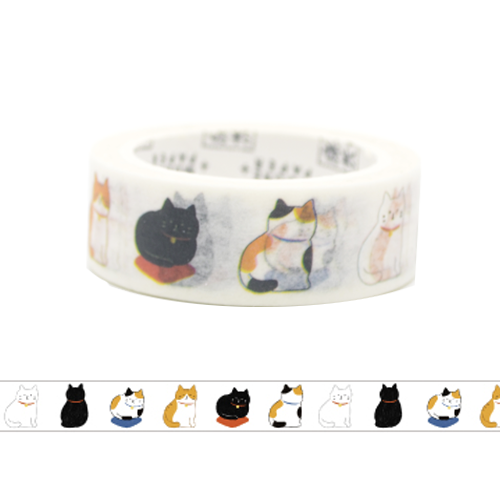 Colorful Cats Standing Pose Washi Tape