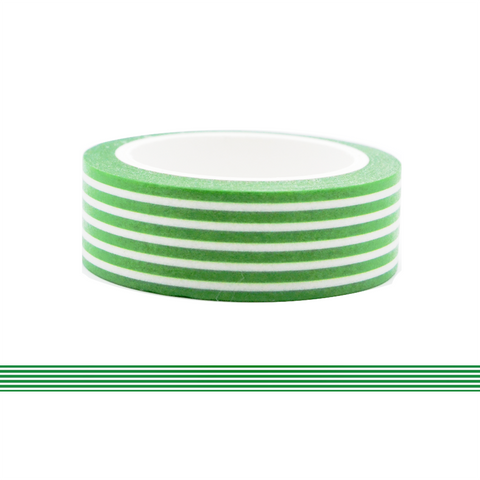 Colorful Line Washi Tape - Green