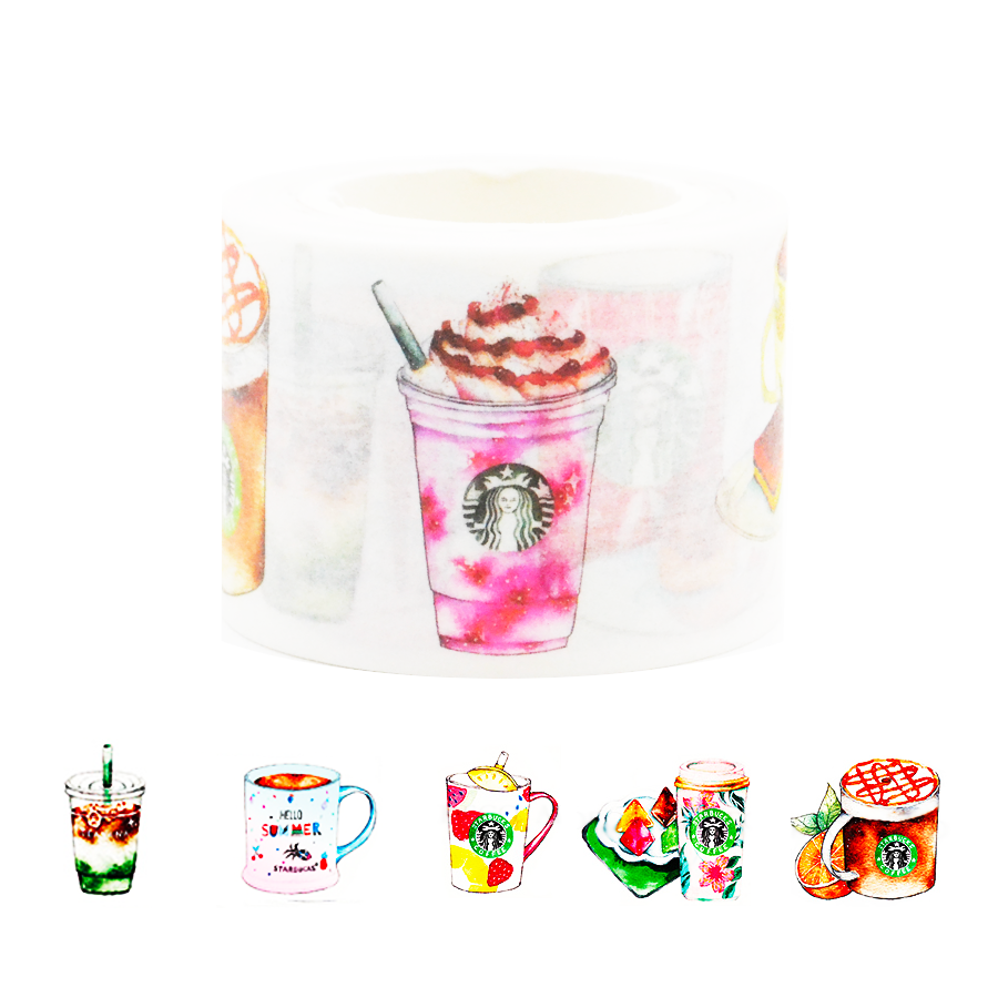 Colorful Starbucks Icy Drinks Washi Tape