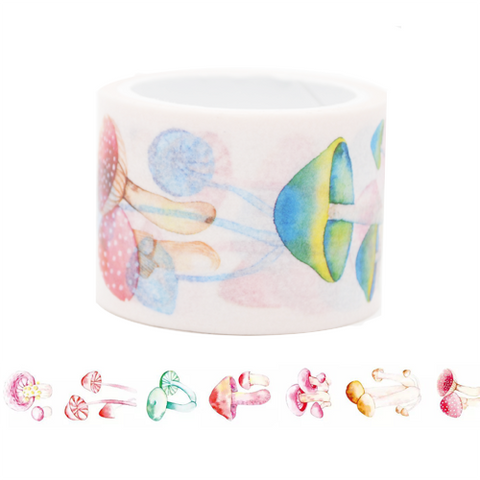 Colourful Mushroom Washi Tape