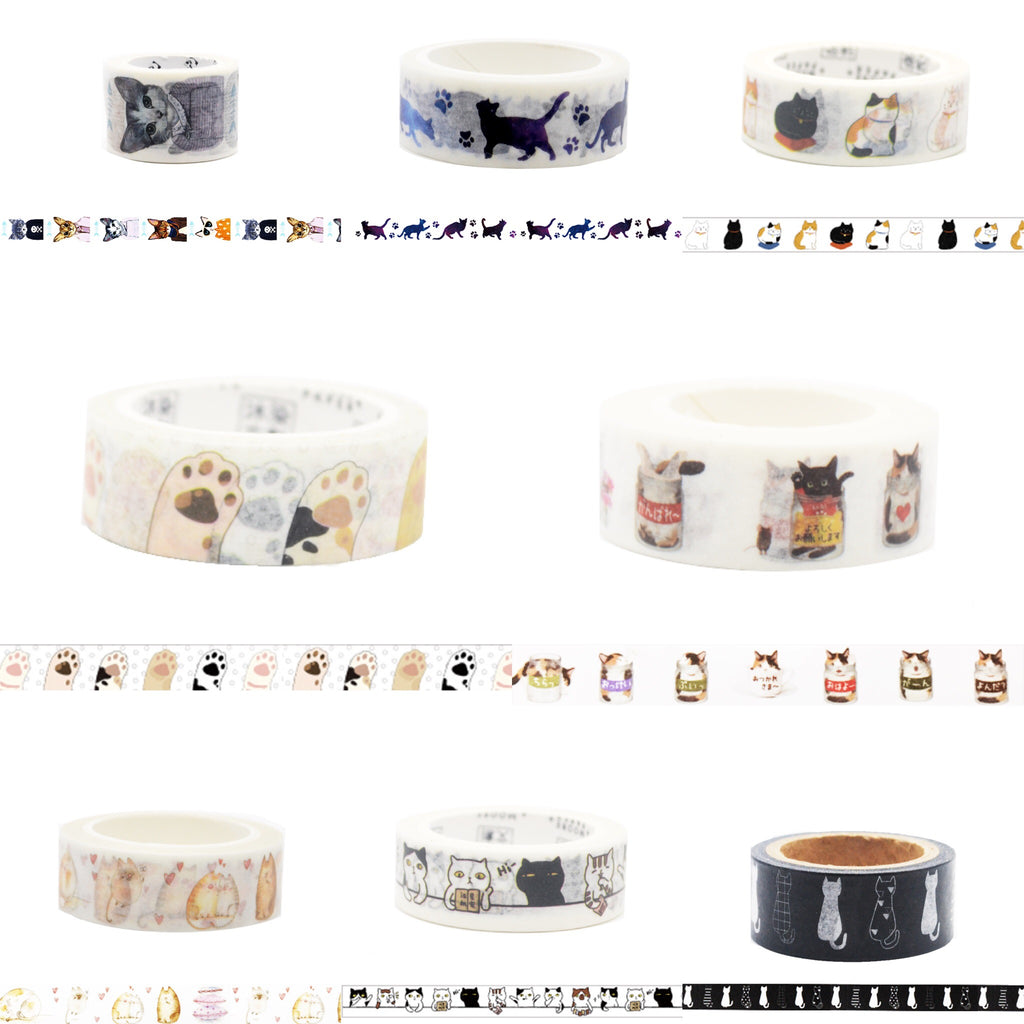 Cat Washi Tapes Bundle