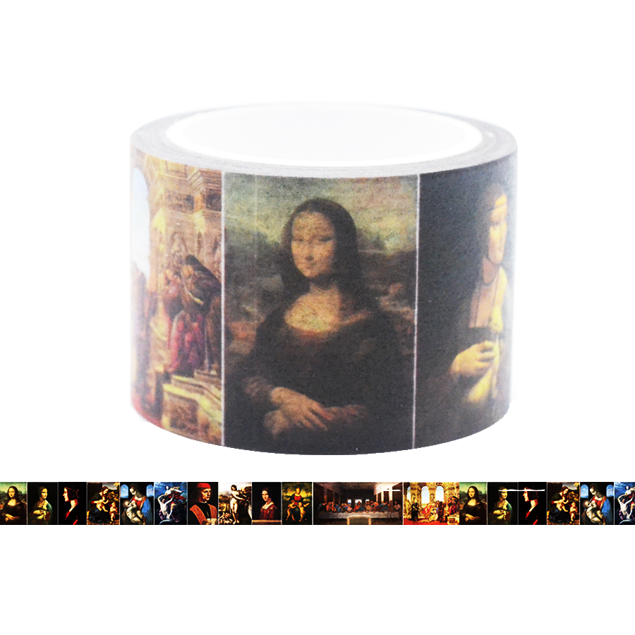 Famous Painting Collection Washi Tape - Leonardo Da Vinci