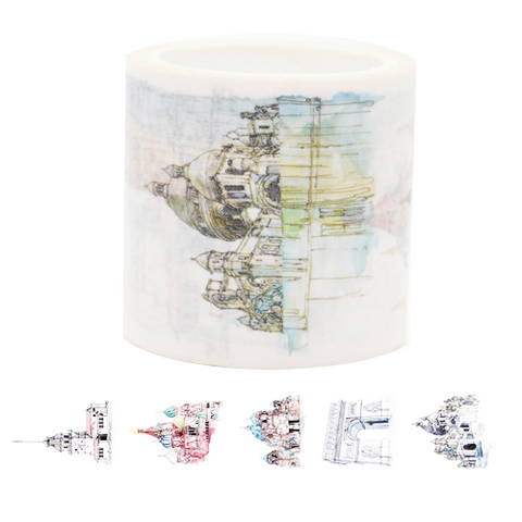 Architectural Buildings Washi Tape - Set 1 (Vertical)
