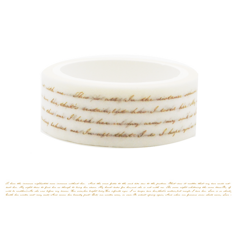 LW1 Golden Hand Writing Washi Tape