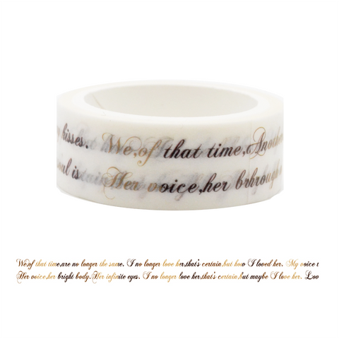 LW2 Elegant Writing Washi Tape