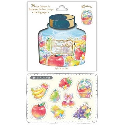 Q-Lia Jamjelly Tracing Paper 48-Piece Sticker Series - Fruits
