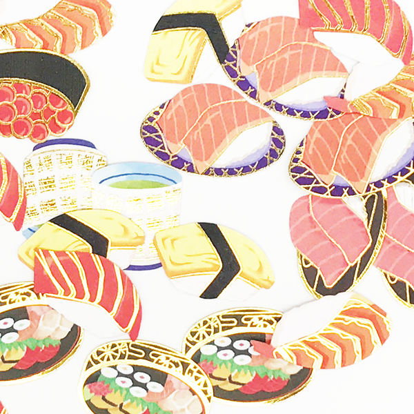 Kamio Japan Traditional 40-Piece Japanese Sticker Series - Sushi