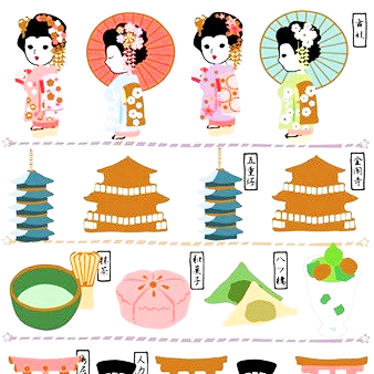 Kamio Japan Traditional Japanese Sticker Series - Giesha