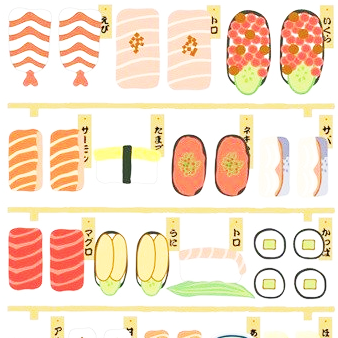 Kamio Japan Traditional Japanese Sticker Series - Sushi