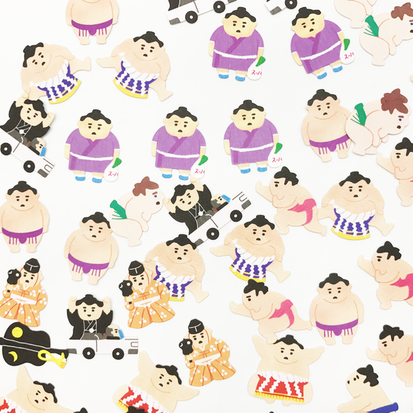 Mind Wave Traditional Japanese 50-Piece Sticker Series - Sumo