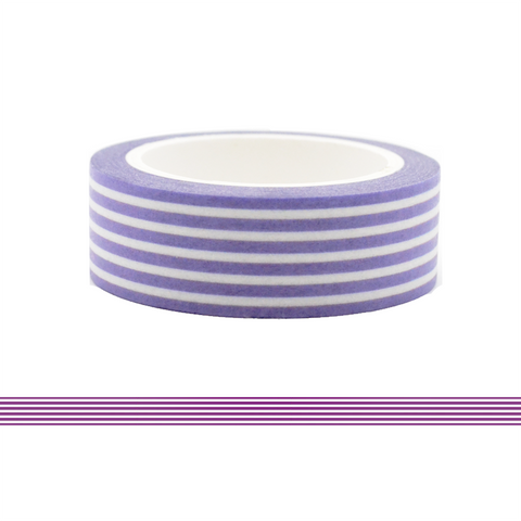 Colorful Line Washi Tape - Purple