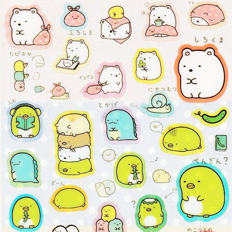 "SAN-X Sumikko Gurashi ""Things in the Corner"" Sticker Sheet Series - Friendship"