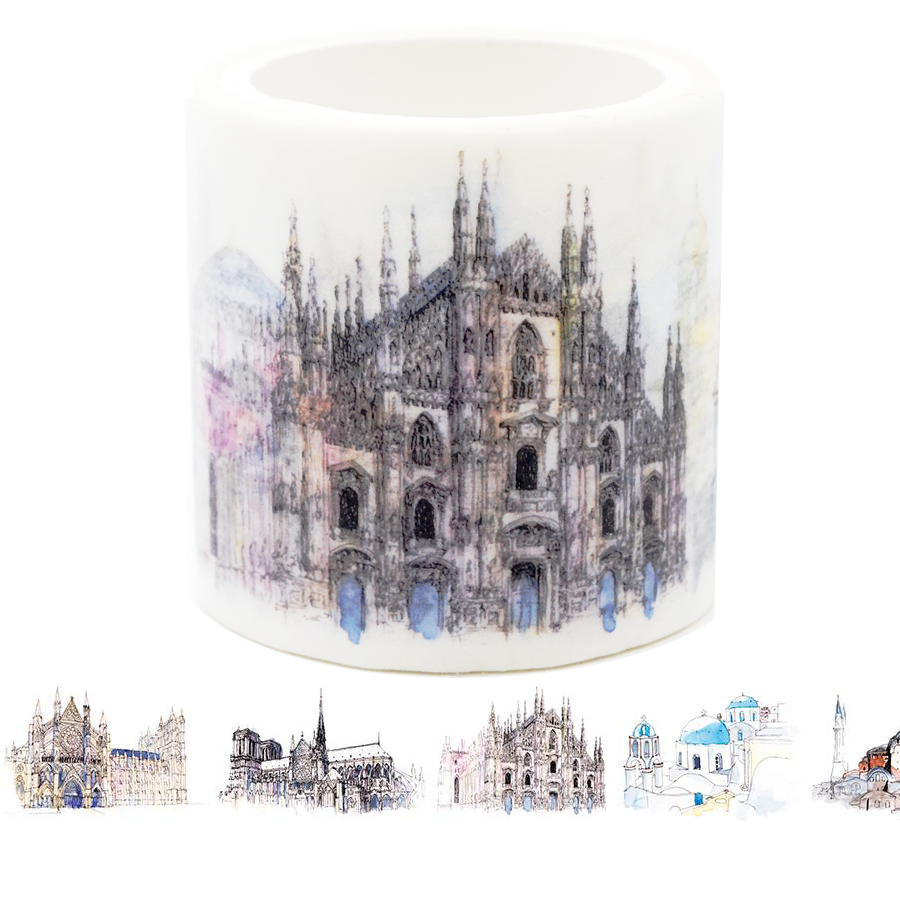 Architectural Buildings Washi Tape - Set 2 (Horizontal)