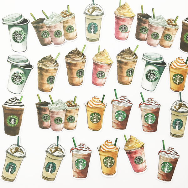 Starbucks Coffee Stickers (25 pieces) - Set C