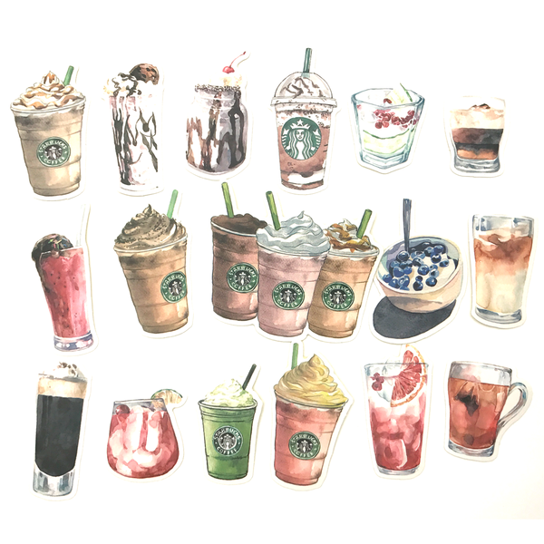 Starbucks Coffee Stickers (17 pieces) - Set A