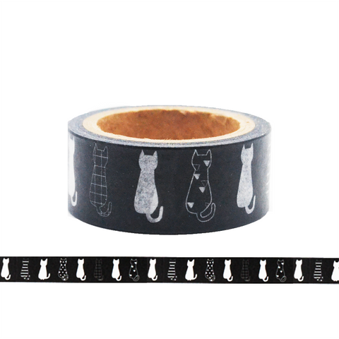 Cat in Black and White Washi Tape