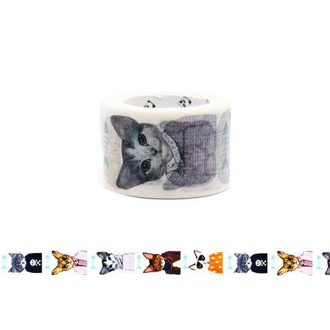 Cat in Clothes Washi Tape