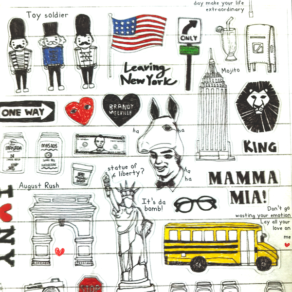 Suatelier USA New York Travel Stickers