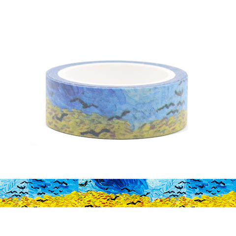 Famous Painting Collection Washi Tape - Wheat Fields by Vincent Van Gogh