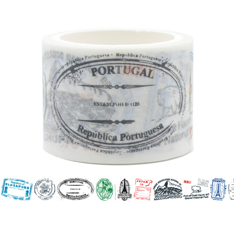 ST6 Western Immigration Stamp Washi Tape