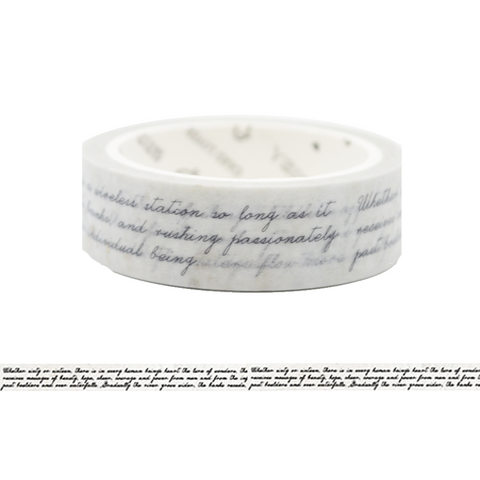 LW3 Beautiful Hand Writing Washi Tape